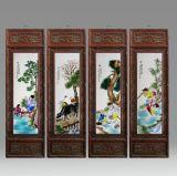 景德鎮陶瓷名家手繪瓷板畫粉彩人物童子客廳臥室掛壁畫玄關裝飾畫