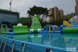 湖南室外大型水樂園支架游泳池水上闖關