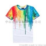 数码印t恤 热升华运动T恤来图样定制吸湿排汗