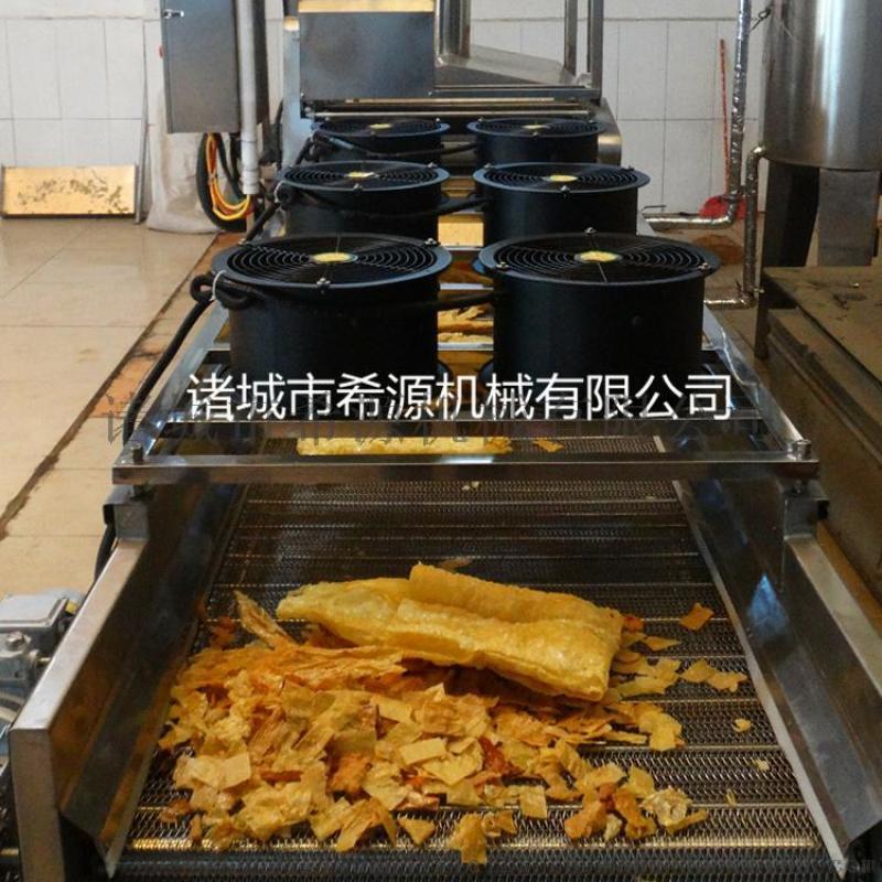 柳州市腐竹油炸机 全自动油皮油炸机流水线