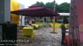利发2.5*2.5米侧立伞庭院伞户外休闲伞