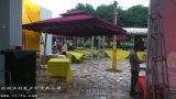 利發2.5*2.5米側立傘庭院傘戶外休閒傘