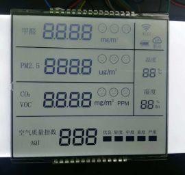 空气监测器VA黑底液晶屏