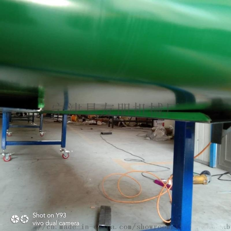 流水线快递物流皮带式输送机 提升机平行pvc传送带