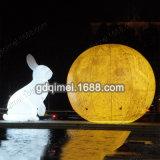 中秋节充气月球气模人造月球充气月亮气模充气玉兔模型