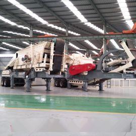 山石破碎机厂家 花岗石颚式移动破碎站 碎石机型号