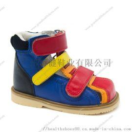 广州真皮矫形鞋,矫正尖足、足跟内外翻高端外贸童鞋