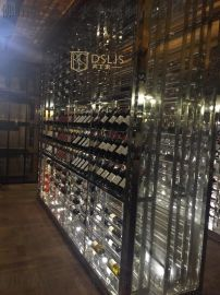 上海地下酒莊不鏽鋼酒架酒莊酒櫃定做廠家
