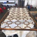 中式鏤空鈦金屏風隔斷 不鏽鋼異形屏風定製