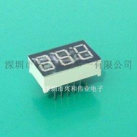 3位数码管 热销现货0.36英寸三位LED数码管 数码屏厂家