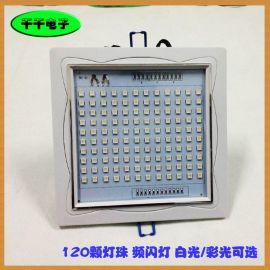120珠频闪灯 投光灯 LED白光七彩 舞台灯 声控自走P120