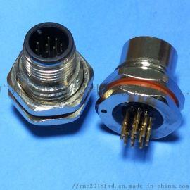 3-32P面板式后锁金属连接器