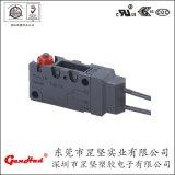 汽车液压锁用防水微动开关 IP67防水带线型微动开关 多种端子可选