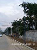 成都海螺臂路燈廠家6mLED太陽能路燈批發