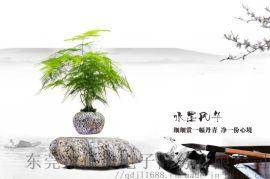 现代家居磁悬浮石头底座盆栽装饰品