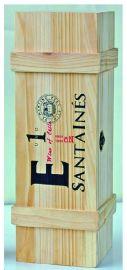 三合红酒盒  木酒架   加工酒盒子