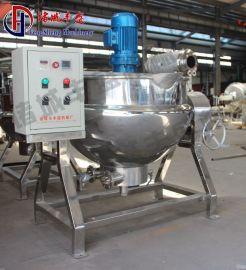 供应500L全钢蒸汽可倾式夹层锅 大型搅拌蒸煮锅