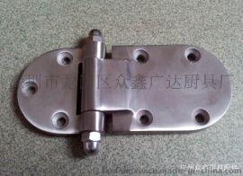 厨具柜门配件不锈钢圆门较 蒸饭柜180度锌合金圆门铰链合页