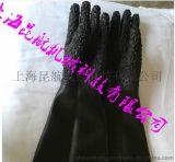 扬州65公分长耐磨喷砂防护手套 带颗粒乳胶喷砂防护手套