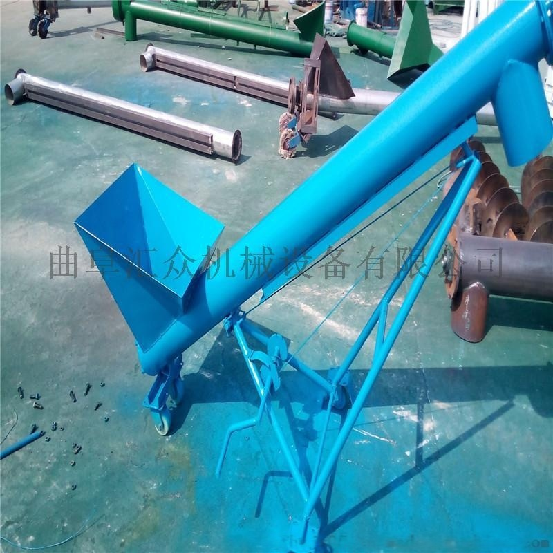 螺旋式自动提料机图片,圆管倾斜螺旋输送机,水平螺旋提升机