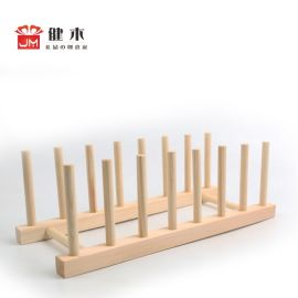 健木 创意木质工艺品 置物架 家居厨房工具