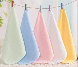 迎春雨竹炭竹纤维小方巾婴儿童毛巾美容洗脸面巾吸水
