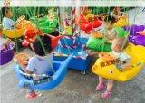 小孩玩的轉椅飛魚多少錢一臺,帶彩燈的旋轉飛魚一個人可以經營嗎?