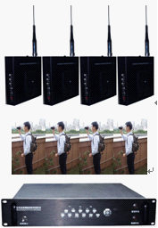前端4套单兵无线移动COFDM通讯设备