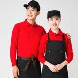 服务员工作服长袖t恤男女超市奶茶火锅饭店餐饮快餐连锁酒店制服