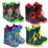 滑雪鞋保暖時尚繽紛單板男女款滑雪靴防水防滑/力達克絲Lidakis