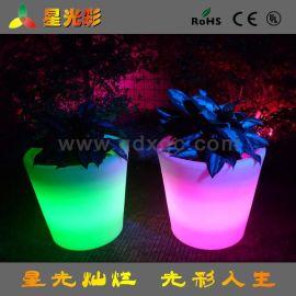LED花盆 塑料LED花盆