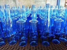 天蓝色酒瓶,蓝色经典玻璃酒瓶,500ml蓝色酒瓶