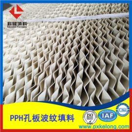 酸雾洗涤塔PPH孔板波纹填料耐强酸塑料波纹规整填料