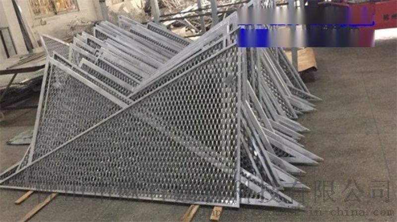 2.0厚幕墙铝板拉伸网 室内铝板网吊顶定制厂家