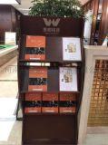 木质报刊架,红木色杂志架,户型图展示架供应商