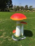 永州玻璃鋼模擬蘑菇雕塑廠家 湖南樹脂雕塑工藝品價格
