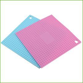 创意餐具硅胶隔热餐垫 锅垫隔热垫 方形蜂窝硅胶餐垫