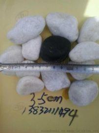 機制白色鵝卵石價格,3-5公分白色鵝卵石廠家直銷