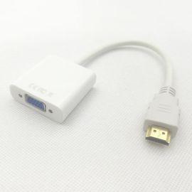 电脑显示器连接线HDMI转VGA线