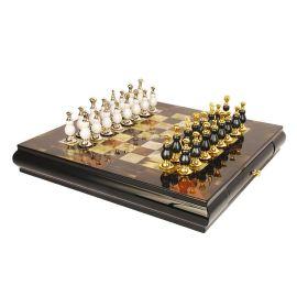 黃牛角國際象棋高端裝飾擺件裝飾實木棋盤歐式樣板間擺件別墅擺臺