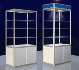 八棱柱展柜展览馆铝合金展示台洽谈柜展架