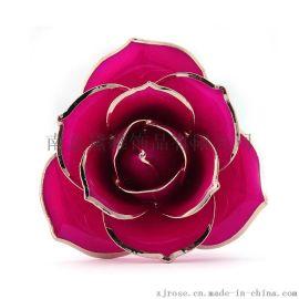 热销黛雅烤漆玫瑰花天然玫瑰花工艺品礼物厂家批发