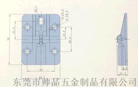 90°/180°锌合金定位铰链静音铰链90度定位合页定位亮铬铰链
