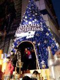 定制大型圣诞树10米led发光大型铁艺圣诞树安装