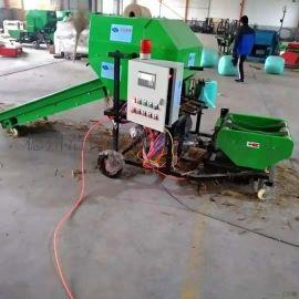 浩民机械牧草秸秆打捆机包膜机