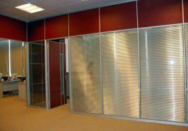 玻璃隔断墙钢化玻璃隔断铝合金玻璃隔断