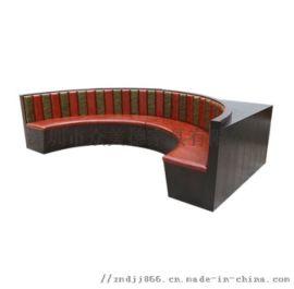異形半圓沙發定做,餐廳弧形沙發配圓桌,靠牆拐角卡座