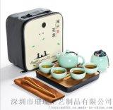 厂家直销青花全半自动茶具 陶瓷茶具套装礼品定制