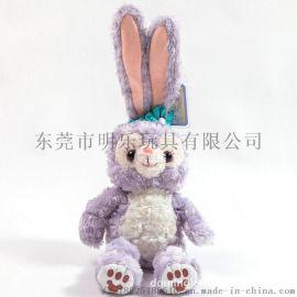 毛絨玩具定製廠家達菲熊兔子抖音同款加LOGO加電鏽