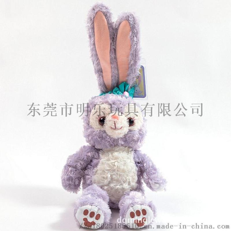 毛绒玩具定制厂家达菲熊兔子抖音同款加LOGO加电锈